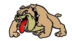 Bulldog Mascot embroidery design