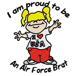 Air Force Brat embroidery design