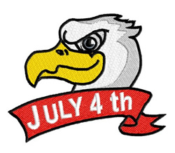 4th of July Banner embroidery design