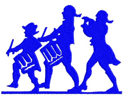 Fife and Drum embroidery design