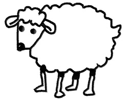 Lamb Outline embroidery design