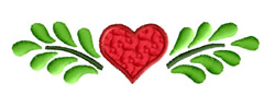 Heart and Branches embroidery design