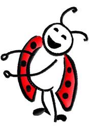 Happy Ladybug embroidery design