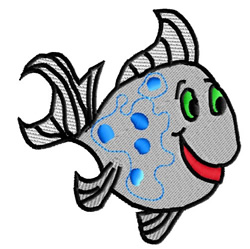 Spotted Fish with Green Eyes embroidery design