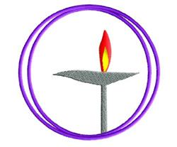 Unitarian Symbol embroidery design