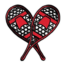 Red Snow Shoes embroidery design