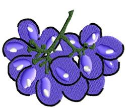Purple Grapes embroidery design