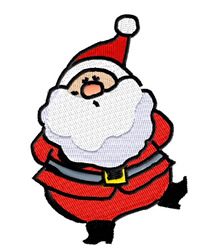 Jolly Santa embroidery design