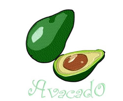 Large Avocado embroidery design