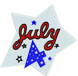 July 4 embroidery design