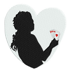 Royal Flush embroidery design