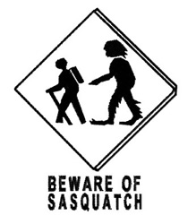 Beware of Sasquatch Sign embroidery design