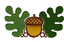 Acorn with Leaves embroidery design