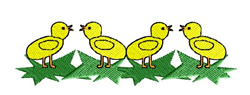 Chick Border embroidery design