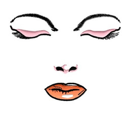 Female Face embroidery design