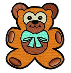 Teddy Bear with Bow embroidery design