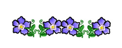 Periwinkle Border embroidery design
