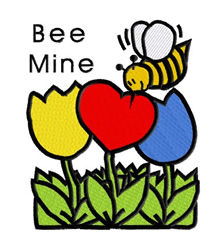 Be Mine Bee embroidery design