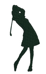 Girl Golfer embroidery design