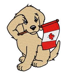 Patriotic Canadian Puppy embroidery design
