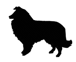 Dog Collie Silhouette embroidery design