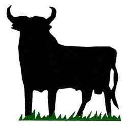 Bull embroidery design