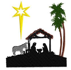 Baby Jesus Scene embroidery design