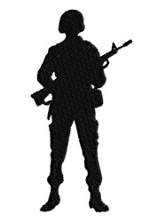 Soldier with Weapon embroidery design