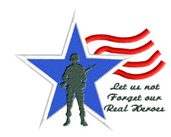 Soldier Star & Stripes embroidery design