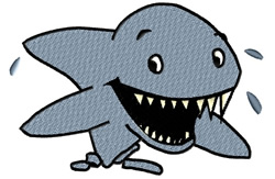 Happy Shark embroidery design