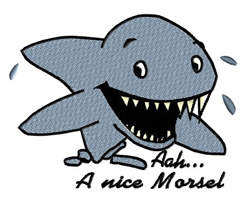 Happy Shark Nice Morsel embroidery design