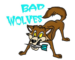 Dart Mascot Bad Wolves embroidery design