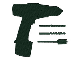 Power Drill embroidery design