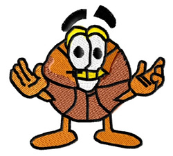 Happy Basketball embroidery design