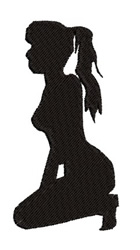 Girl Silhouette embroidery design