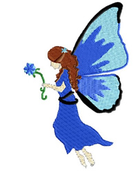 Fairy Holding  Flower embroidery design