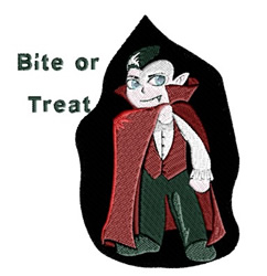 Bite Or Treat embroidery design