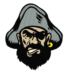 Pirate Mascot embroidery design