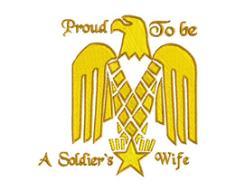 Proud Soldiers Wife embroidery design