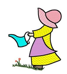 Gardening Girl embroidery design