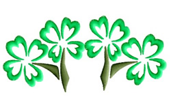 Clover Border embroidery design