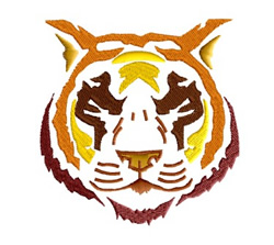 Tiger Mascot embroidery design