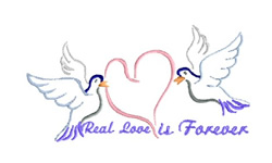 Real Love is Forever embroidery design