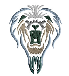 Lion Head embroidery design