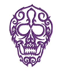 Fancy Skull embroidery design