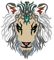 Lion Princess embroidery design