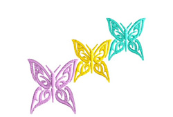 A Bunch Of Butterflies embroidery design