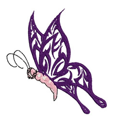 Sleepy Butterfly embroidery design
