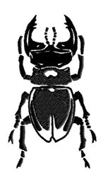 Black Beetle embroidery design