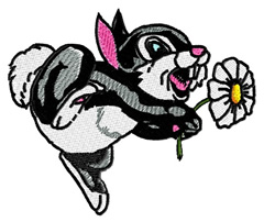 Thumper embroidery design